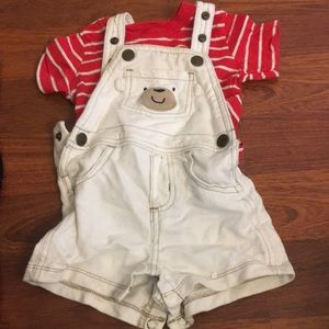 Carters Bear overalls